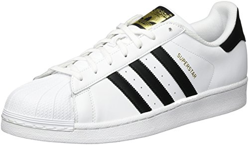 Adidas Originals Mens Superstar Foundation Tillfälliga Gymnastiksko Vit / Core Svart / Vit