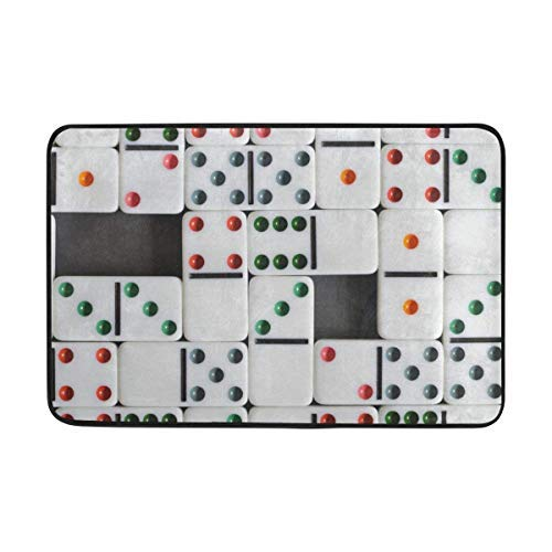 Cutakuzvmru Carpet Dominoes Dice Board Games Doormat Indoor Outdoor EntranceFloor Mat Bathroom 23.6 X 15.7 Inch