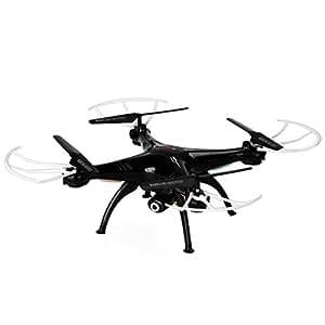 Syma X5SW-1 Drone Quadcopter RC con Cámara (4Ch 6 Axis, 2.4G, RTF FPV, Wifi, 360 Grados, Led Colorido), Negro
