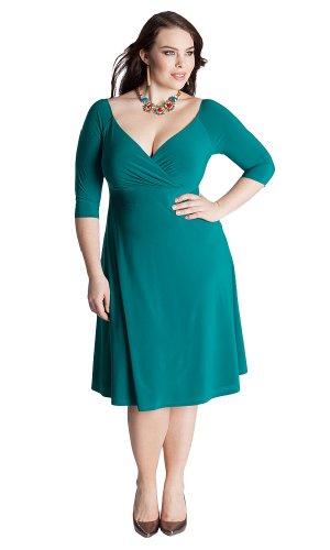 IGIGI Women's Plus Size Francesca Dress in Deep Emerald 14/16