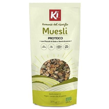 IK Muesli proteico con copos de soja y semillas de calabaza