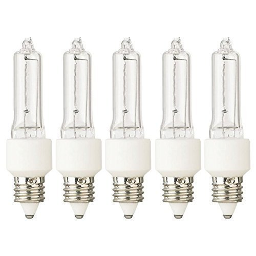 Tungsten Halogen Lamp JD 100 Watt 130V E11 Base (5) Lamps - Q100CL/MC ()