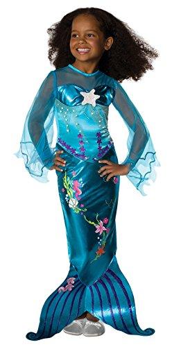 Mermaid Costume For Kids (Magical Mermaid Child Costume - Small (4-6))