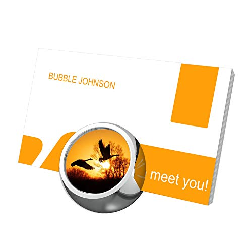 - Flying Bird Sunset Business Card Holder Stand LOWESTOFTs Metal Material Business Card Organizer Display Holder for Office Desk Calendar Card Holder