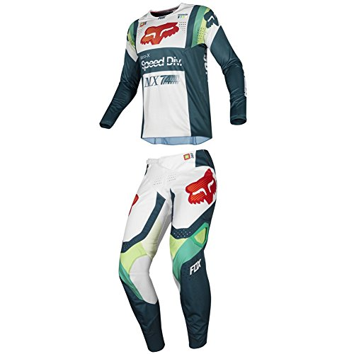Fox Racing 2019 360 MURC Jersey and Pants Combo Offroad Gear Set Adult Mens Green Medium Jersey/Pants 34W 360 Off Road Pants