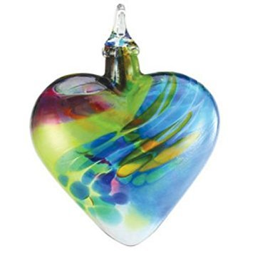 Glass Eye Studio Chameleon Heart Ornament