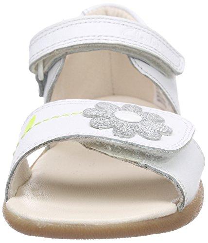 Clarks Kids Softly Eve Fst - Zapatillas Unisex bebé Blanco (White Combi Lea)
