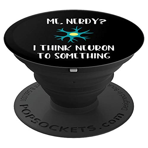 Funny Brain Neuron Neuroscience Nerdy Gift Stocking Stuffer - PopSockets Grip and Stand for Phones and Tablets