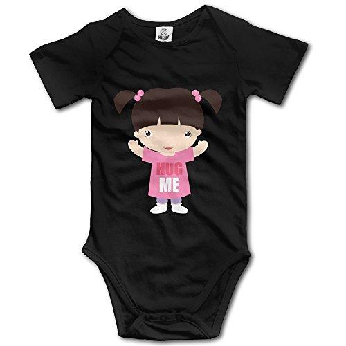 Monsters Inc Hug ME Custom Baby Unisex Bodysuit Organic Cotton Lovely (Googly Bear Monsters Inc)
