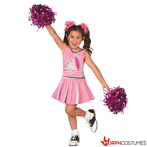 Girls Champion Cheerleader Pink Uniform Childrens Cheerleading Costume for Kids – Medium (Age 6-8) ()