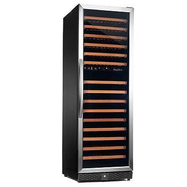 Kingsbottle KBU-170D-SS 170 Bottle Dual Zone Wine Cooler