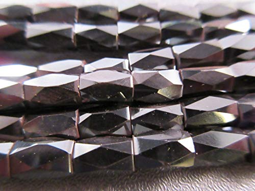 Hematite Magnetic Faceted Barrel Beads 50pcs