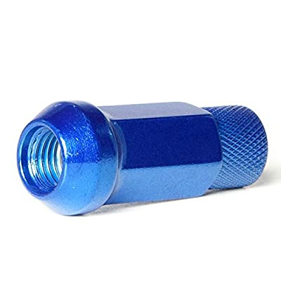 Circuit Performance Forged Steel Extended Hex Lug Nut for Aftermarket Wheels: 12x1.5 Blue - 20 Piece Set + Tool: Automotive
