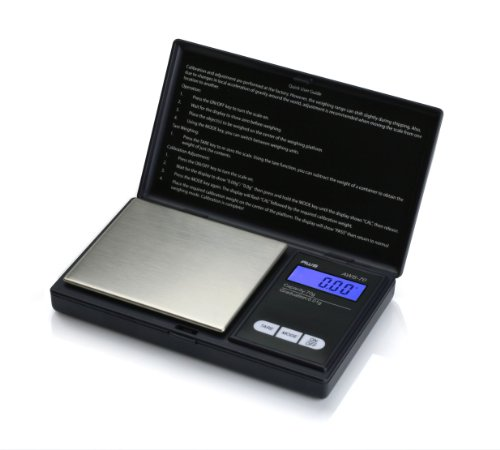 (American Weigh Scale Signature Series Aws-70 Digital Pocket Scale, Black, 70 X 0.01 G)