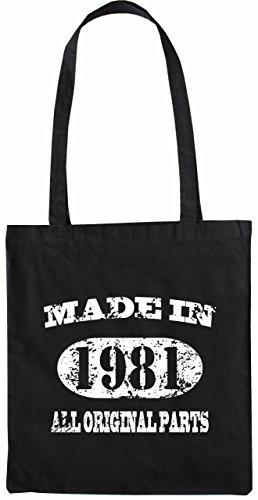 Merchandise Made In 34 35 Parts Tote Bag Nero Bagaglio Mister Naturale Original 1981 All Colore Borsa wHqFxFC