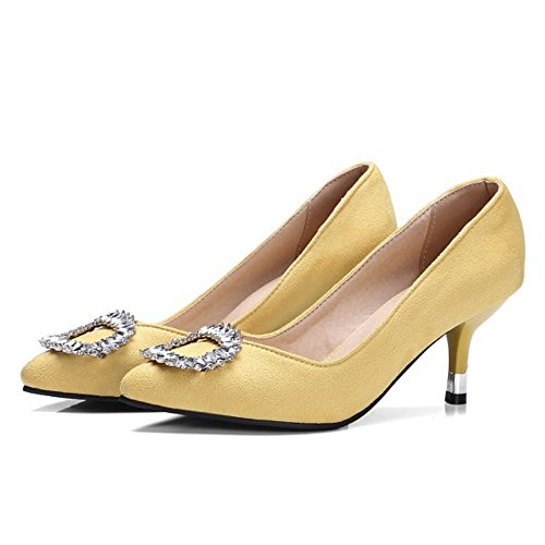 On Court Women Shoes TAOFFEN Fashion Yellow Slip qU7zwtIa