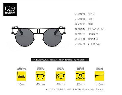 retro lunettes cercle Bleu style de vintage en inspirées rond Mercure polarisées Lennon du soleil métallique xvqwY1r6v