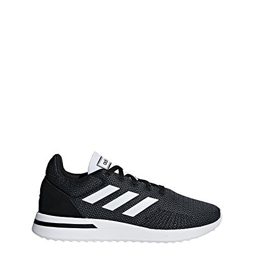 Image of adidas Men's Run70S Running Shoe, Black/White/Carbon, 9 M US
