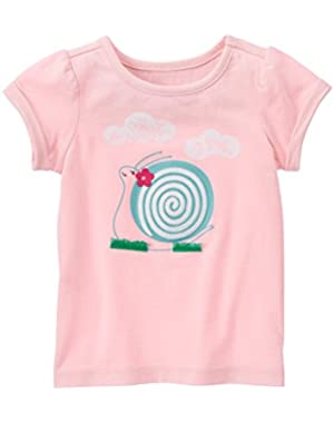 Girls Sweet Snail Tee (12 - 18 Months)!