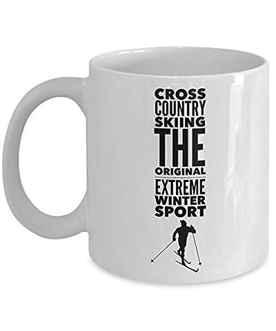 Cross Country Skiing Mug - Crosscountry Ski Gift - X Country Packages (White) - Karhu Backcountry Ski