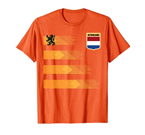 - Women Men Netherlands Soccer Shirt Holland Cheer Jersey 2019 T-Shirt