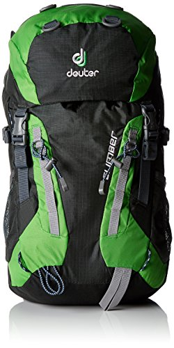(Deuter Climber Kid's Hiking Backpack, Anthracite/Spring)