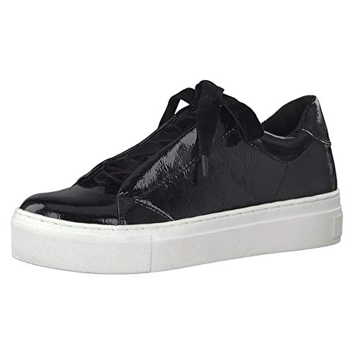 2 Basses 2 Sneakers Femme Schwarzv 31 Marco 580 Tozzi 23720 Patent black BEHxy7q