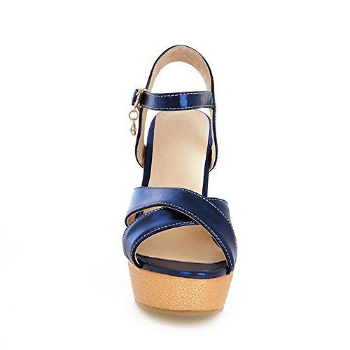 Sandalen High Schnalle 1TO9 Heels Blau Mädchen Polyurethan OzAqT1