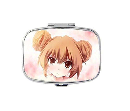 Cute Taiga Aisaka in Toradora Custom Fashion Square Pill Box Medicine Tablet Holder Organizer Case