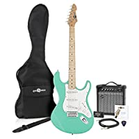LA II Electric Guitar SSS + Amp Pack Seafoam Green