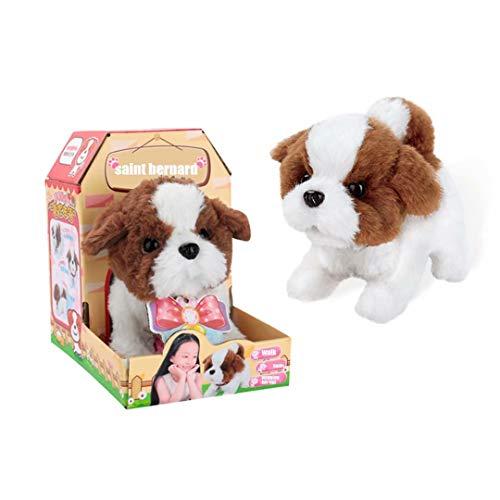 c Puppy Interactive Plush Dog Walking and Barking pet Toy Birthday for Toddlers Girls Boys Kids - Saint Bernard ()