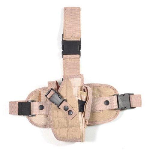 Ultimate Arms Gear Tactical Desert Tan Camo Drop Leg Colt 1911 XSE,.45 Auto Pistol/Gun Holster + Magazine Pouch