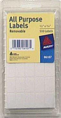 All - Purpose White Label .5X.75 - 1 Pack