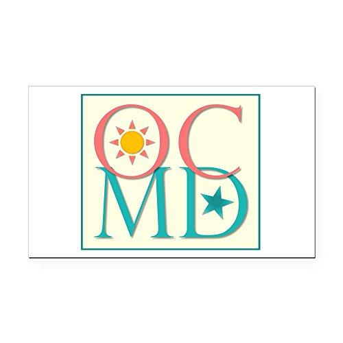 (CafePress - Ocean City, MD Rectangle Car Magnet - Rectangle Car Magnet, Magnetic Bumper)