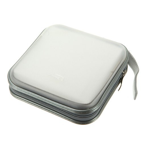 Q4Tech Hard CD DVD Storage Holder Case for 40 Discs. Durable Travel Organizer. - Dvd 40 Cd