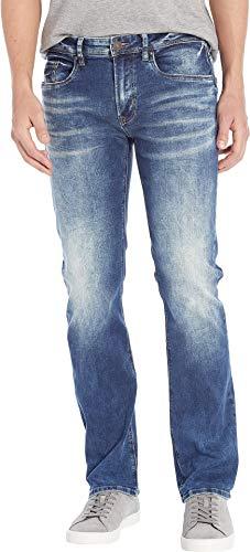 Buffalo David Bitton Men's Six X Straight Leg in Veined/Sanded Veined/Sanded 38 ()
