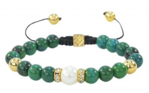 Fashion Jewelery Beautiful Green Agate Gemstone bracelets -promote healing and energy (Stone Green Agate)