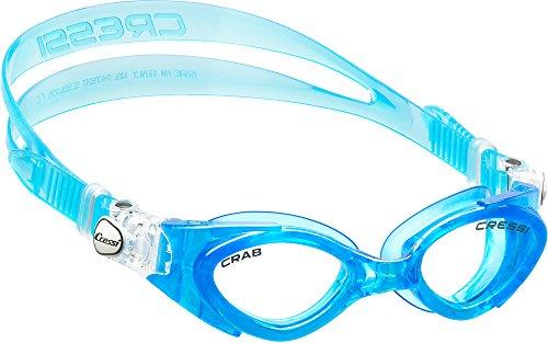 (Cressi Crab, blue/blue, clear lens)