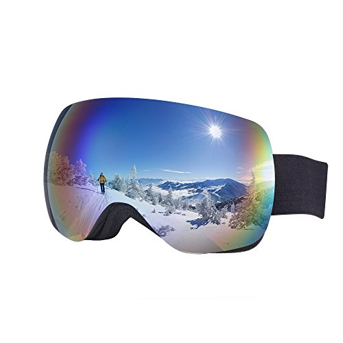 T. Z. Ski Goggles snowmobile goggles men women Double Lenses ANTI-FOG&UV,Snowboard, Skiing,Snowmobile, Motorcycle Cycling, Winter Sports Outdoor by T. Z.