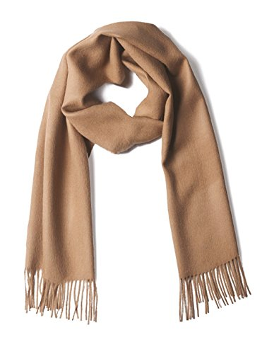 100% Pure Baby Alpaca Scarf - Bright Happy Solid & Natural Dye Free Colors (Brown Sugar) (Infant Blanket Dye)