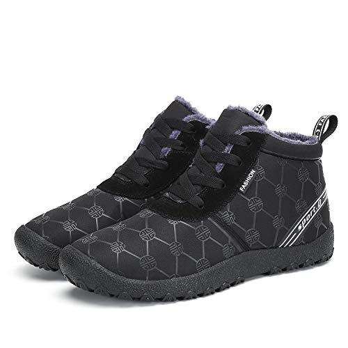 Voovix Men' Snow Boots Winter Warm Fur Lined Waterproof Non Slip Lightweight Outdoor Shoes