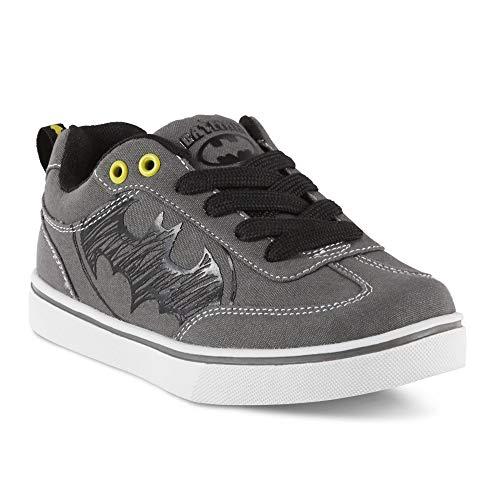 BBC International Batman Character Boys Gray Sneakers (13 M US (Toddler/Youth))