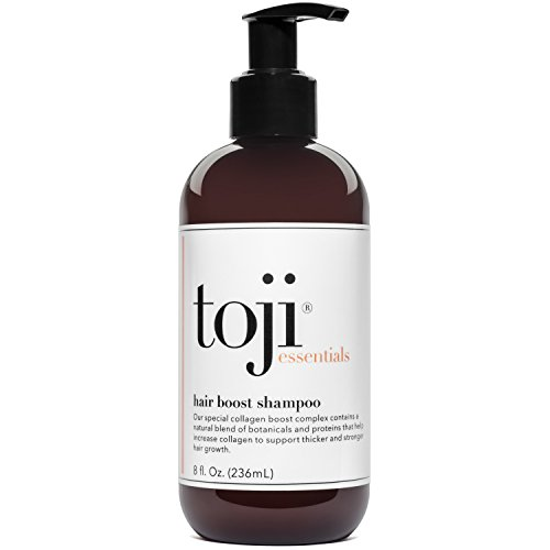 Toji: Essentials Hair Boost Shampoo w/Special Collagen Boost Complex | Naturally Supports Hair Growth & Anti Hair Loss Prevention For Men and Women by Toji