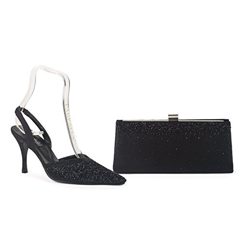 Farfalla Luxury Shoes And Bag Black