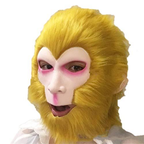 Masks for Adults Latex Head Masks,Halloween Horro Monkey King Goku Ghost Zombie Costume Scary Creepy Fancy Dress -