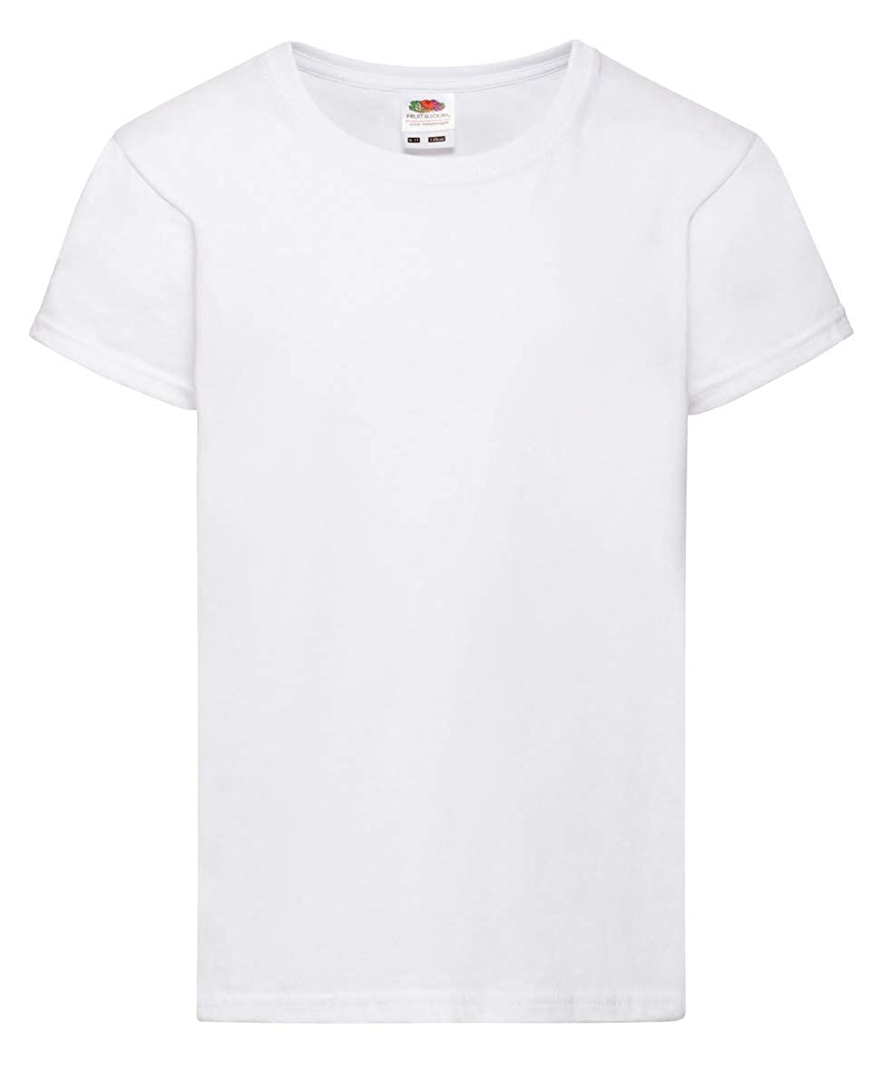(10 Pack) White Girls Valueweight Fruit of The Loom T-Shirts