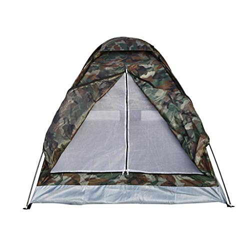 Gbyao Tent Outdoor Portable Camouflage Beach Tent Camping Tent 2 People Single Layer Polyester Cloth Tent PU1000mm Carrying Bag Travel