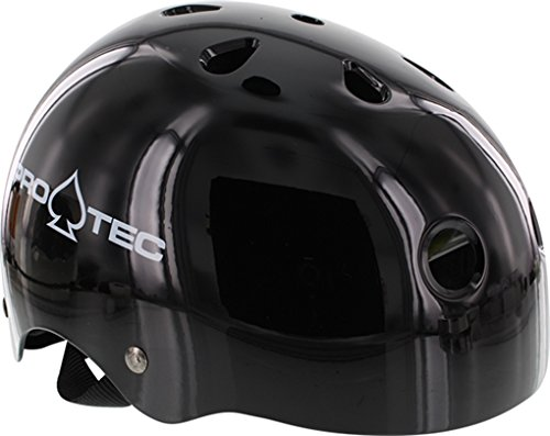 PRO-TEC Protective Equipment Classic EPS Foam Liner Gloss Black X-Large Skateboard Helmet - CE/CPSC - Cpsc Protec Gloss