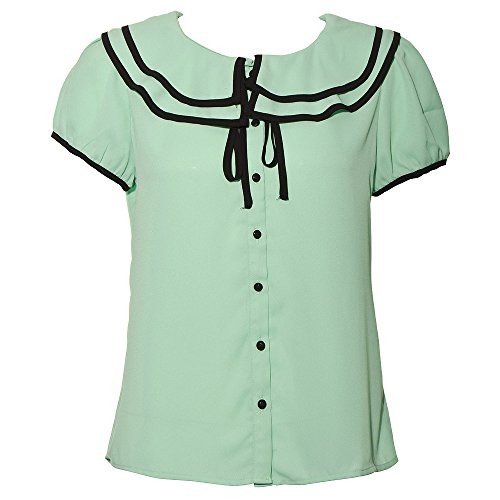 Voodoo Vixen - menta blusa de Rockabilly