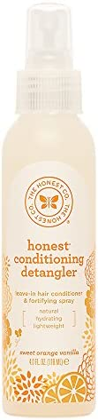 The Honest Company Sweet Orange Vanilla Conditioning Detangler Spray | Lightweight Leave-in Conditioner &